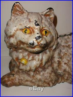 10 Antique Hubley Cast Iron Cat Doorstop Door Stop