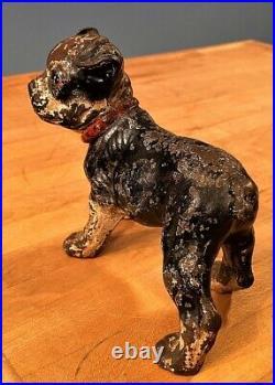 1920-1930s HUBLEY Doorstop CAST IRON Boston Terrier PUPPY DOG Door Stop GENUINE