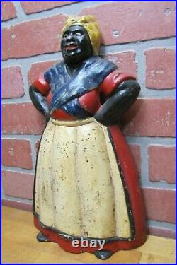 1920s Chef Woman Hands Hips Cast Iron Doorstop Littco Littlestown Pa Americana