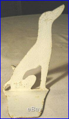 #1 Antique Spencer Hubley Cast Iron Wolfhound Dog Art Toy Statue Door Doorstop