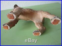 #2 Antique Original Hubley Cast Iron Fox Terrier Dog Doorstop/bookend Art Statue
