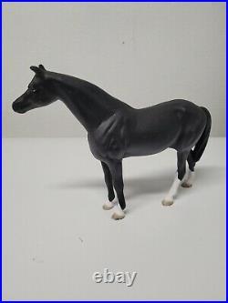 ANTIQUE Black Cast Iron Door Stop Horse Black Beauty