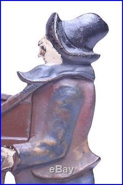 ANTIQUE CAST IRON 2 SIDED MONKEY & ORGAN GRINDER DOORSTOP 10