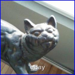 ANTIQUE HUBLEY BLACK CAT DOORSTOP CAST IRON vintage Halloween