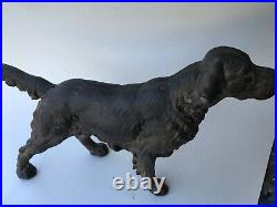 ANTIQUE HUBLEY CAST IRON IRISH SETTER HUNTING DOG ART STATUE Unpainted