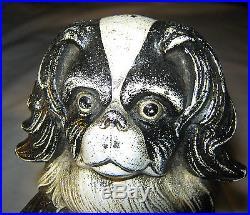 Antique Judd Cast Iron Toy Pekingese Puppy Dog Art Statue Sculpture Doorstop USA