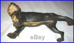 Antique Ww I Cast Iron Skoog Boston Terrier Dog Art Statue Sculpture Doorstop
