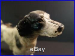 All Original Antique HUBLEY Dog Cast Iron DOORSTOP 1920