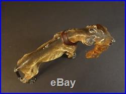 All Original Antique Hubley Hunting Dog & Rabbit Cast Iron Doorstop 1920