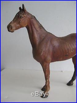 Antique 1920 S Hubley Cast Iron Horse Door Stop Figurine