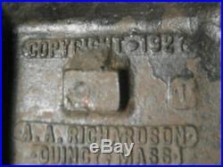 Antique 1927 Quincy Massachusetts Home Cottage Garden Cast Iron Statue Doorstop