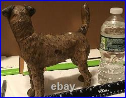 Antique 1930s Hubley Fox Terrier Cast Iron Airdale Dog Statue NEW IMAGES