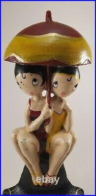 Antique Anne Fish Bathing Girls #250 Cast Iron Doostop, Hubley