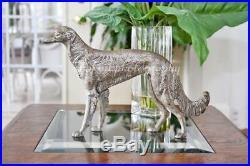 Antique Art Deco 1930's Hubley Americana Cast Iron Borzoi Wolfhound Dog Doorstop