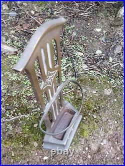 Antique Art Nouveau Victorian solid brass & cast iron doorstop 14 ½ 37cm tall