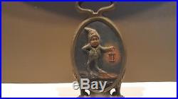 Antique BRADLEY & HUBBARD Good Night Cast Iron Gnome Elf Doorstop, Rare