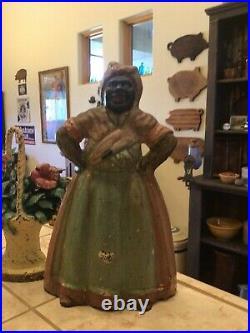 Antique Black Americana Cast Iron Door Stop