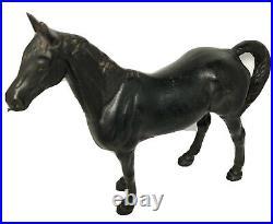 Antique Black Cast Iron Heavy Door Stop Horse Blk Beauty(Hubley Mold) Stallion