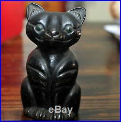 Antique Black Cat Cast Iron Doorstop