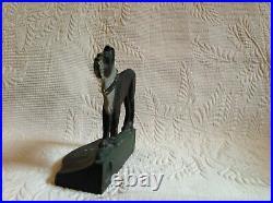 Antique Boston Terrier Dog Cast Iron Bookends Bradley Hubbard 1926 or Doorstop
