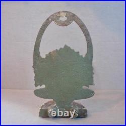 Antique Bradley & Hubbard Cast Iron Doorstop Flower Basket