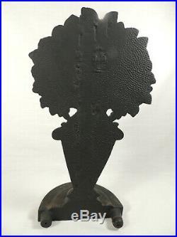 Antique Bradley Hubbard Cast Iron Flower Garden Urn Doorstop