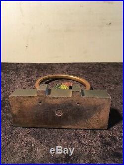 Antique Bradley Hubbard Cast Iron Parrot On Swing Doorstop