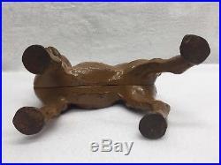 Antique Cast Iron 10.5 Hubley Rare Left Facing Boston Terrier Dog Doorstop