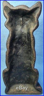 Antique Cast Iron Black Cat Door Stop- Look