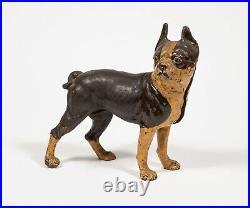 Antique Cast Iron Bull Dog No. 1 Boston Terrier Door Stop