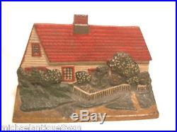 Antique Cast Iron Cape Cottage Doorstop Ex. Pt