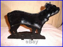 Antique Cast Iron Doorstop Dog Boston Terrier