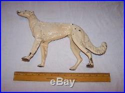 Antique Cast Iron HUBLEY Russian Wolf Hound Dog Doorstop Borzoi Whipet -Statue