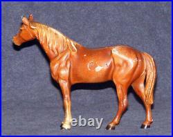 Antique Cast Iron Hubley Thoroughbred Horse Doorstop 1900-1940