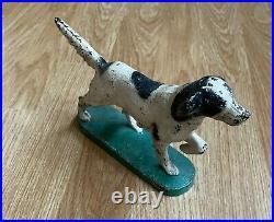 Antique Cast Iron Irish Setter Pointer Dog Bookend Doorstop or Figurine