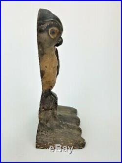 Antique Cast Iron Owl Doorstop