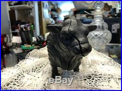 Antique Cast Iron Polled Bull Cow Ox Bank Doorstop Heavy 7.1 Lbs 11 L Disbudded