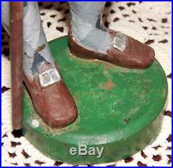 Antique Cast Iron Scottish Highlands Tartans Figurine Man Door Stop Doorstop