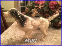 Antique Cast Iron Springer Spaniel English Setter Pointer Dog Door Stop