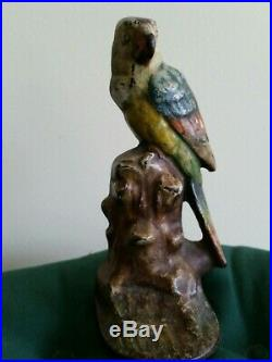Antique Cast iron parrot door stop