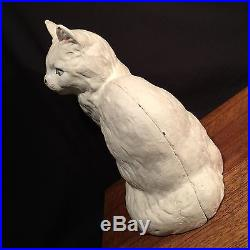 Antique Cat Hubley Doorstop Cast Iron Persian Made in USA PRIORITY MAIL