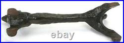 Antique Dachshund Dog Cast Iron Boot Scraper, Doorstop, Statue, Andiron