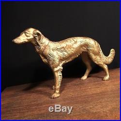 Antique Doorstop USA Borzoi Wolfhound Saluki Cast Iron Statue Dog PRIORITY MAIL