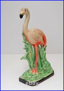 Antique Flamingo Bird Cast Iron Hubley Doorstop Ca 1930
