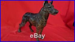Antique German Shepherd Dog Cast Iron Door Statue Weight Doorstop Rare