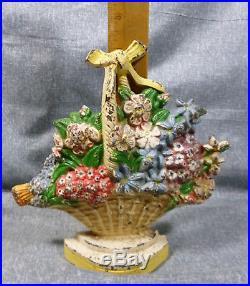 Antique Hubley #475 Wild Roses Cast Iron Door Stop