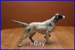 Antique Hubley Cast Iron 15.875 #347 Irish Setter Dog Door Stop Original Label