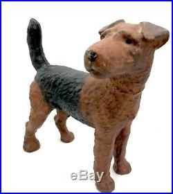 Antique Hubley Cast Iron Airedale Doorstop in Extraordinary Condition