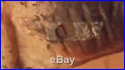 Antique Hubley Cast Iron Boston Terrier Doorstop. Facing left. Original scew
