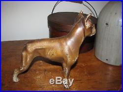 Antique Hubley Cast Iron Boxer Dog Doorstop